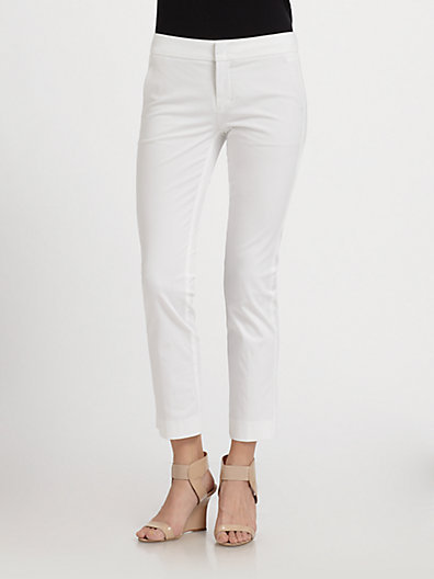 Vince Stretch Cotton Cropped Flare Pants