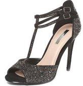 Dorothy Perkins Womens **Showcase Black 'Swag' Sandals- Black