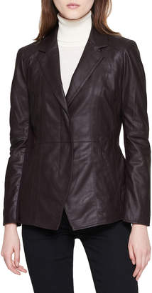 Andrew Marc Glove Lamb Leather Belted Jacket
