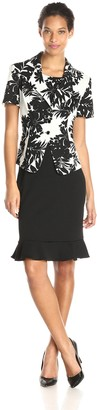 Danny And Nicole Danny & Nicole Women's Two Piece Jacket and Twofer Dress