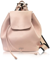 N°21 Nude Leather Backpack w/Canvas Shoulder Straps