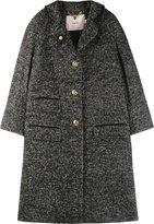 Luella A-line Tweed Crombie Coat