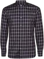 Aquascutum London Men's Harley Club Check Long Sleeve Shirt