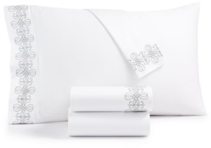 Hotel Collection Classic Embossed Jacquard California King Sheet Set Bedding