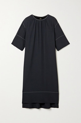 Marni Satin-crepe Dress - Midnight blue