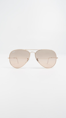 Ray-Ban RB3025 Oversized Mirrored Original Aviator Sunglasses
