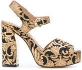 Tory Burch Loretta sandals - women - Leather/Polyester/Metallized Polyester - 6