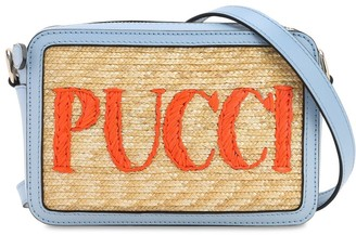 Emilio Pucci STRAW & LEATHER CAMERA BAG