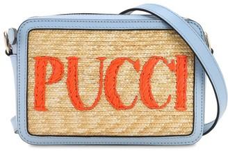 Emilio Pucci Straw & Leather Camera Bag