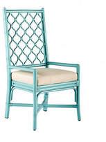 Selamat Harper Rattan Armchair - Light Blue/Ivory