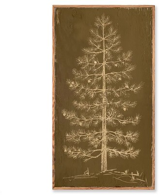 Pottery Barn Tree Carved Wood Wall Art