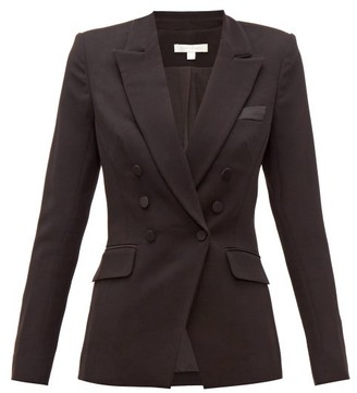 Jonathan Simkhai Double-breasted Crepe Jacket - Black