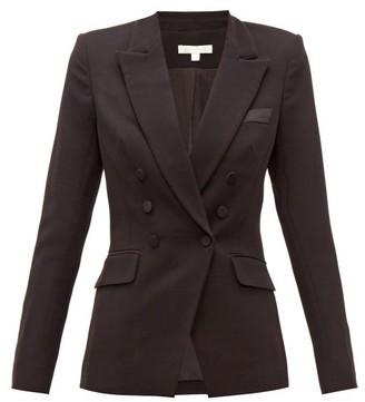 Jonathan Simkhai Double-breasted Crepe Jacket - Womens - Black