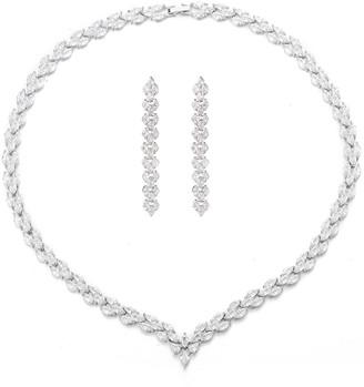 Eye Candy Los Angeles Eye Candy La Winter Wedding Cz Crystal Necklace Set