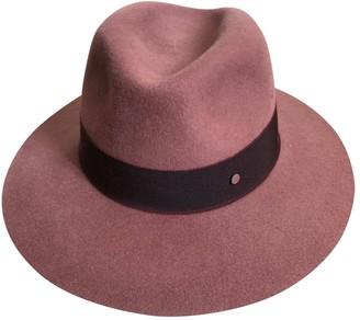 Maison Michel Burgundy Wool Hats
