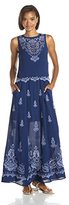 Nanette Lepore Women's Summer Solstice Embroidery Detail Maxi Dress