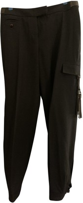 Saint Laurent Anthracite Wool Trousers for Women Vintage