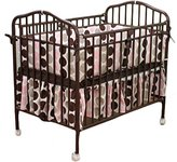 L.A. Baby Compact Folding Metal Crib Finish: Chocolate by