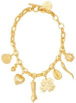 Rebecca De Ravenel All My Lucky Stars Gold-plated Charm Necklace - Womens - Gold
