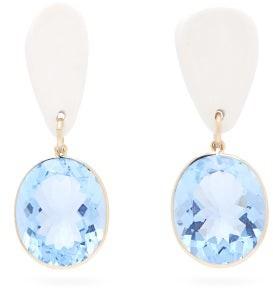 Sonia Boyajian - Mykonos Crystal & Ceramic Drop Earrings - Womens - Blue