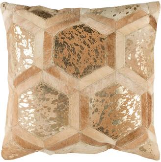Safavieh Maggie Metallic Cowhide Pillow