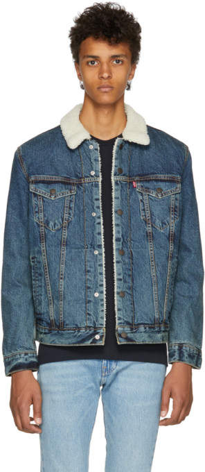 Levi's Levis Blue Type 3 Sherpa Trucker Jacket