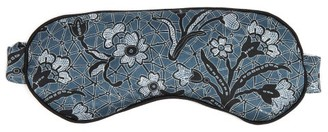 Morpho + Luna Jemma Mirage Print Silk Eye Mask - Womens - Blue Multi