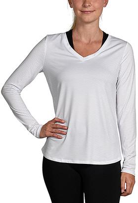90 Degree By Reflex Women's Tee Shirts WHITE - White V-Neck Tee - Women