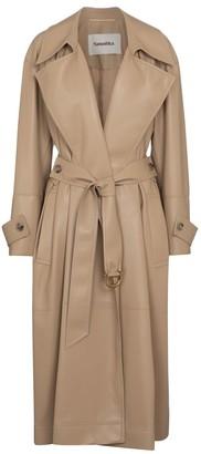 Nanushka Amal faux leather trench coat