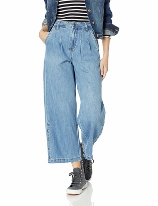 Volcom Junior's Women's Skate Date Wide Leg Loose fit Denim Pant