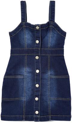 Aeropostale p.s. from Girls' Casual Dresses DENDK - Blue Button-Up Pocket Denim Jumper - Girls