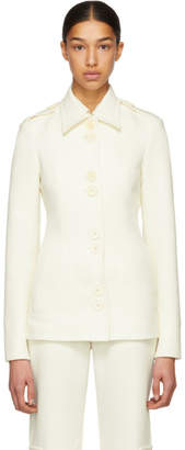 Wales Bonner White Tailored Military Jacket