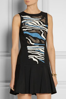 Tibi Baja open-back embroidered gabardine dress
