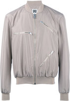 Les Hommes Urban - multi-zippers bomber jacket - men - Cotton/Polyester/Spandex/Elastane - 48