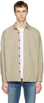 Nudie Jeans Taupe Calle Shirt