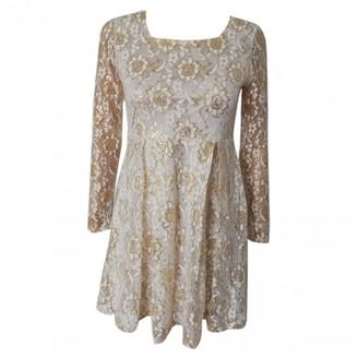 Max Mara Gold Lace Dresses
