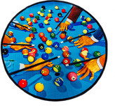 Seletti Toiletpaper Collection Round Rug - Snooker