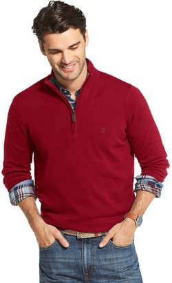 Izod Men's Premium Essentials Classic-Fit Solid Quarter-Zip Sweater