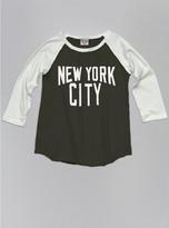Junk Food Clothing Kids Girls New York City Raglan-black Wash/sugar-l