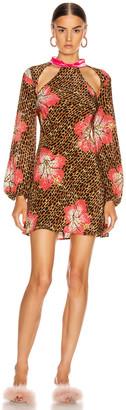 Rixo Dalia Dress in Hawaii Giraffe   FWRD