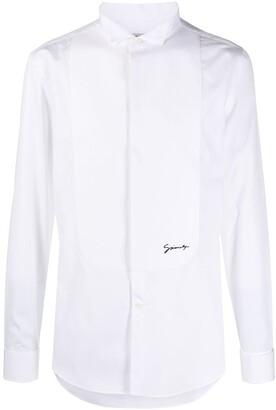 Givenchy Embroidered Logo Tuxedo Shirt