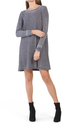 Thermal Burnout Fit Flare Dress