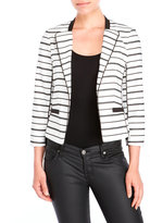XOXO Striped Blazer