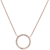 Sydney Evan 14K Pave Circle Necklace