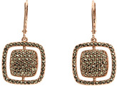 Judith Jack Rose Gold Square Cushion Drop Earrings