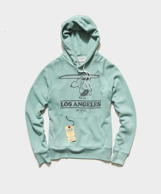 Todd Snyder X Peanuts Peanuts City Collection Los Angeles Hoodie in Aqua