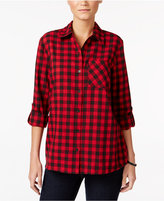 Style&Co. Style & Co. Petite Plaid Shirt, Only at Macy's