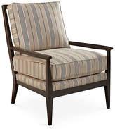 Joe Ruggiero Collection Oslo Chair - Gray/Beige Stripe Sunbrella