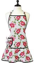 Jessie Steele 107-JS-281 Cabbage Rose Pin Dot Carmen Apron