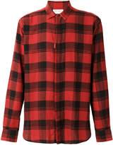 Saint Laurent raw edge plaid shirt